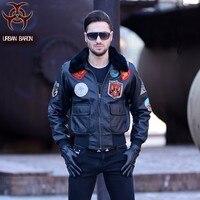 Darmowa Wysyłka. DHL Marka winter warm cow leather jacket. plus Size silnika biker kurtki, mężczyźni prawdziwej skóry płaszcz, grube ubrania