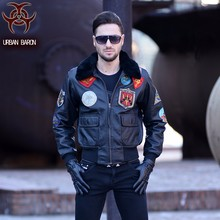Free Shipping.DHL Brand winter warm cow leather jacket.plus Size motor biker jackets,men genuine leather coat,thick clothing