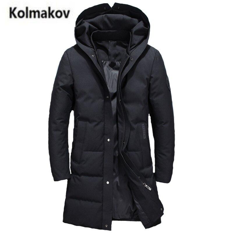 2017 new winter high quality men's fashion hooded long down jacket,90% white duck down coats solid color warm parkas men,M-3XL. мужской пуховик brand new m 3xl men warm coats
