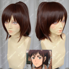 Attack on Titan Sasha Blouse Reddish-brown Hair With Ponytail Clip Heat Resistant Cosplay Costume Wig + Free Wig Cap цена