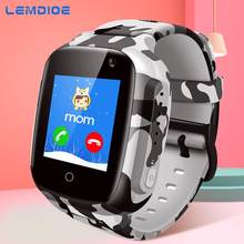 LEMDIOE New 600mAH Long standby time Kids smart watch baby with gps wifi sos real-time positioning IP67 waterproof for children(China)
