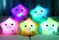 Colorful Luminous Pillow Christmas Toys Led Light Pillow Plush Pillow Colorful Stars Kids Toys Free Shipping