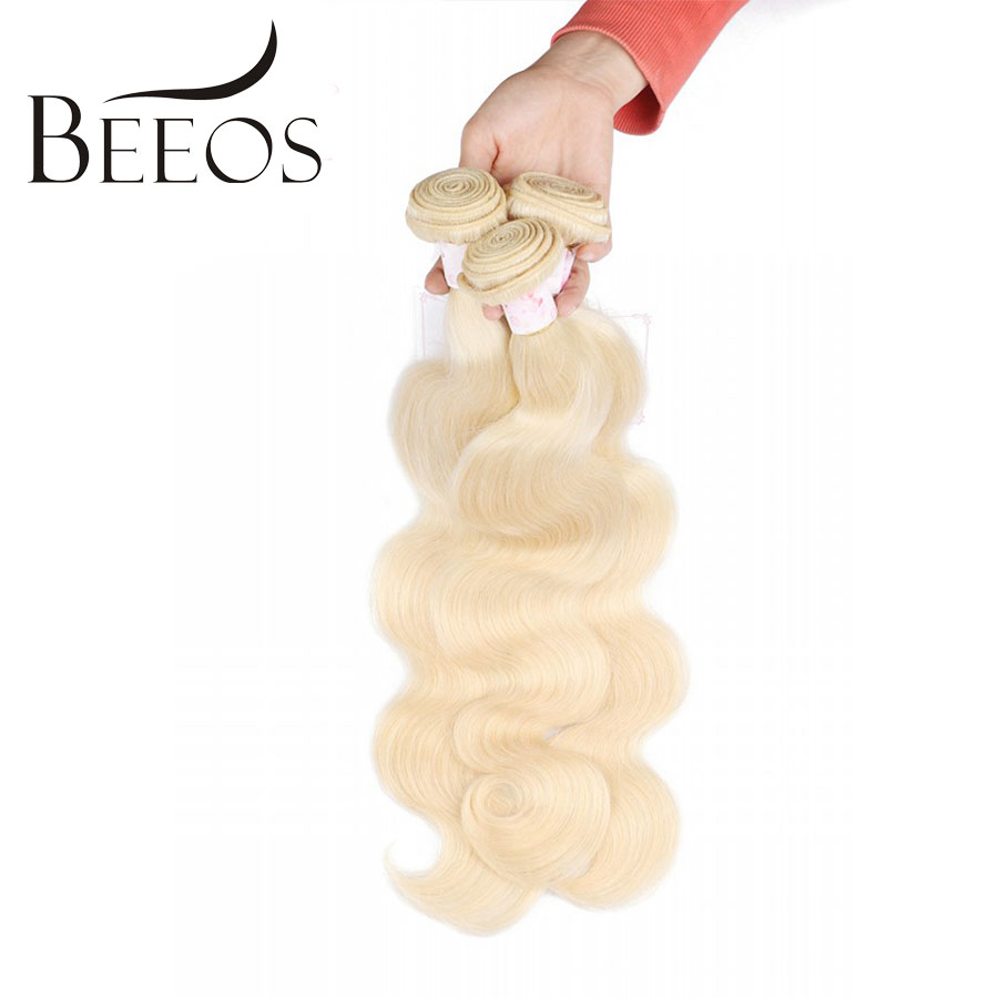 Beeos 613 Blonde Bundles Brazilian Hair Body Wave 100% Human Hair Extension 1 Pc Non-remy Hair 12-26 inch Free Shipping