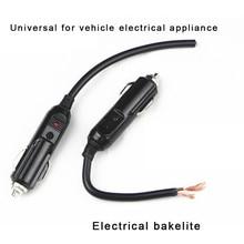 цена на 12V/24V Auto LED Male Cigarette Lighter Socket Connector With 20A Fuse Car Electronics