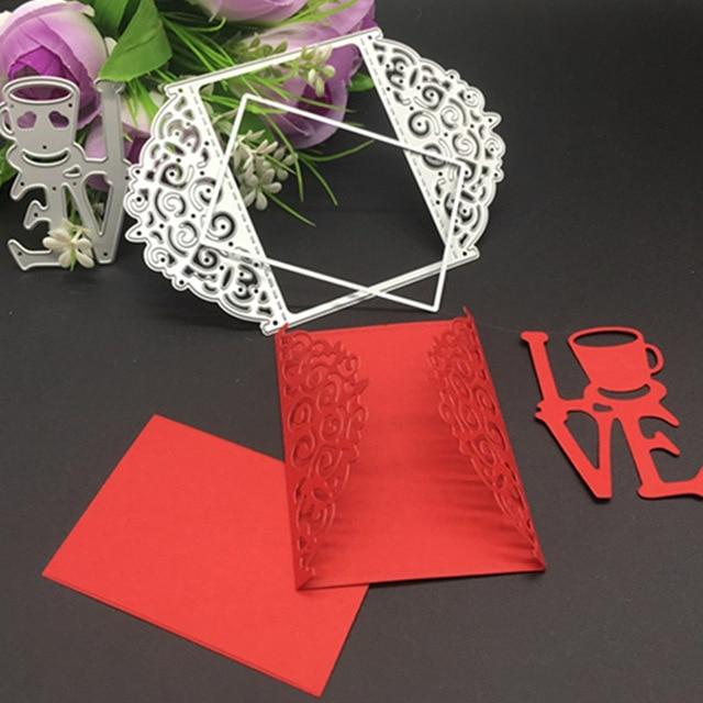 Love Wedding Invitation Card Metal Die cutting Dies For DIY ...