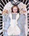 Милый Кролик Трикотажные одеяло Пеленание Детское Одеяло новорожденного пеленать Муслин Диван-Кровать Cobertores Мантас Ребенка Рим Украшения Полотенца