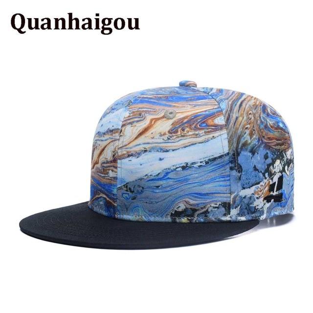 45903bd78936d9 Quanhaigou Brand Colorful Geology Snapback Hats,Twist Hilly Land Rivers  Mountains Men Women Adjustable Baseball Cap Trucker Caps