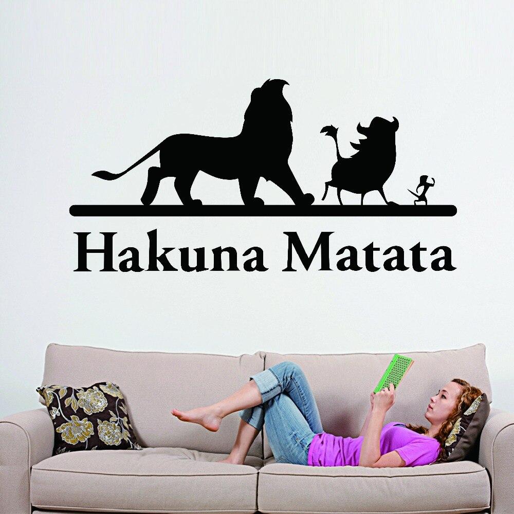 Aliexpress.com : Buy Famous Movie Hakuna Matata Lion King Wall Sticker  Cartoon Vinyl Decal Home Nursery Room Decoration Children Boys Retro Art  Mural From ... Part 59