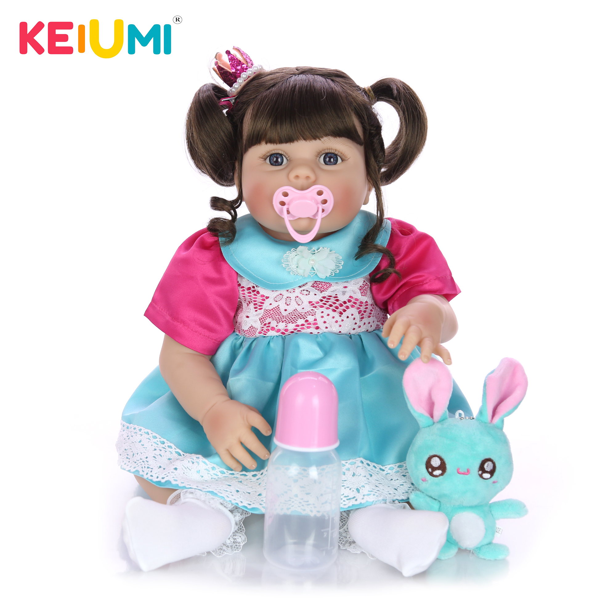 KEIUMI New Arrival 23 Fantasy Reborn Dolls For Girls All Silicone Boneca Vinyl Newborn Toddler Bebe