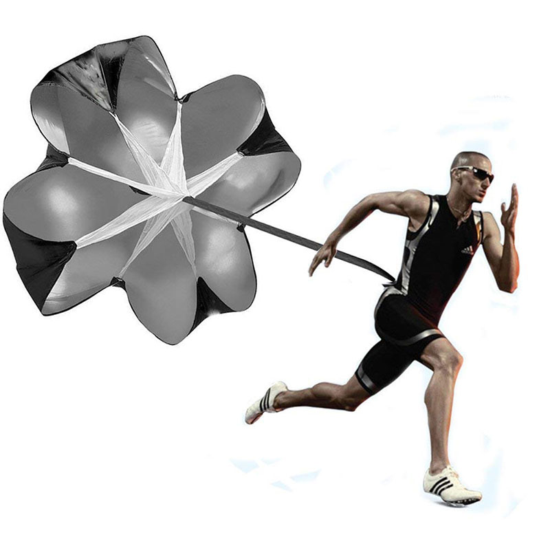 Running Speed Chute Resistance Parachute 56 Inch Running Umbrella Training Sprint Power Soccer Trainer For Runner, Football, Soc