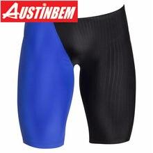 47204a8bc5 Austinbem Swim Jammers homens Calções de Banho De Natação Competitiva  Profissional Maiô Esportes Sportswear Swim Trunks