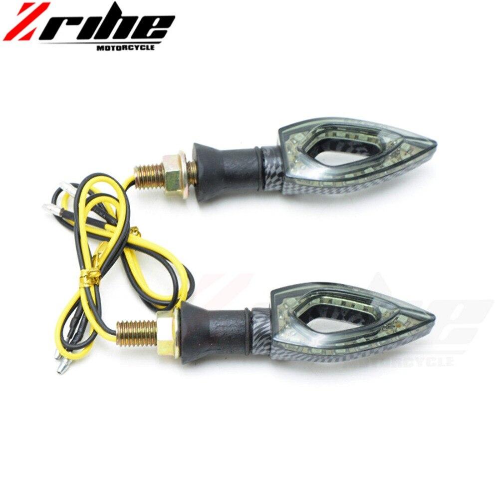 lowest price 4pcs FOR KTM BMW KAWASAKI YAMAHA R1 Motorcycle LED Turn Signal Moto Flasher Indicator Light DC 12V Universal Amber Blinker Lamp