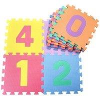 HOT Shockproof EVA Foam Puzzle Crawl Floor Mat 10PCs 30 30cm Numbers 0 9 Children Baby