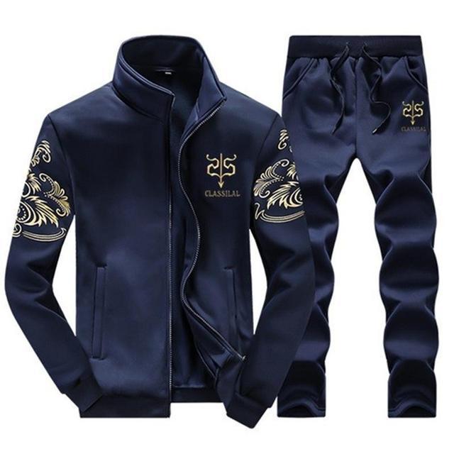 Lana di Inverno degli uomini Tuta Abbigliamento Sportivo Casual di Marca  Uomo Per Il Tempo Libero 6d83a1a4cc8