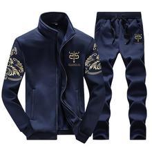 Herren Winter Wolle Trainingsanzug Sportkleidung Beiläufige Marke Mann Freizeit Warme Outwear Mäntel Trainingsanzüge Sets für Männer