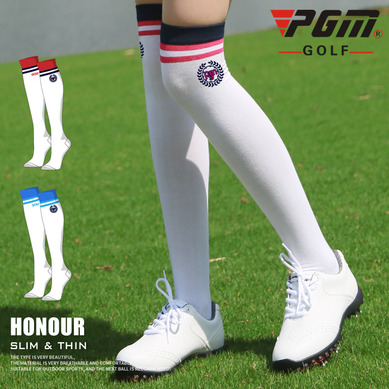 2018 New PGM Golf Sports Socks Womens Stockings Lady Sweat Absorption Breathable Stockings Summer Clothing Cycling Long Socks