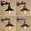 Лофт стиль винтажный светодиодный настенный светильник Бра В индустриальном стиле с лампой Эдисона переключатель водопровод Настенные св...