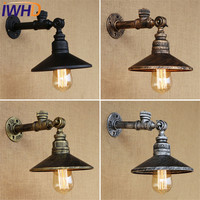 IWHD Loft Style Vintage LED Wall Lamp Industrial Edison Wall Sconce With Switch Water Pipe Wall Light Fixtures Indoor Lighting