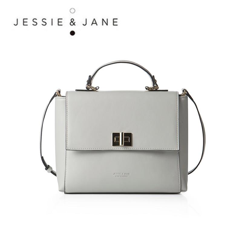 JESSIE JANE Designer Brand Women s Elegant Split Leather Handbags 1217