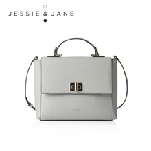 JESSIE&JANE Designer Brand Women's Elegant Split Leather Handbags 1217