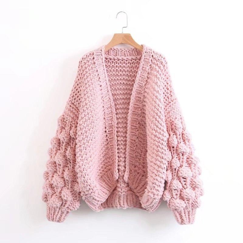 ZDFURS * Automne Hiver Tricoté Cardigans Manteau Femmes De Mode Long Manches Chauve-Souris Poncho Chandail Belle Femme Crochet Cardigan