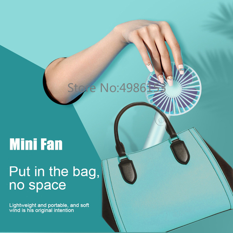 2019 new handheld electric portable fan placed aromatherapy USB mini summer cooling three speeds can be placed mobile phone fan in Fans from Home Appliances