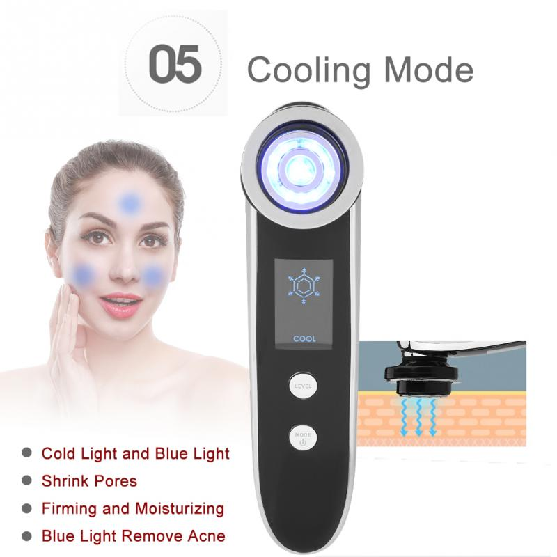 Face Beauty Machines Professional EMS Ultrasonic Skin Rejuvenation Wrinkle Removal Anti Aging Therapy Freckle Treatment Massager