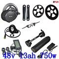 48В Bafang BBS02 750 Вт 48В 8Fun комплект электродвигателей для велосипеда электрический велосипед с батареей 48В 13ач преобразование электрического ве...