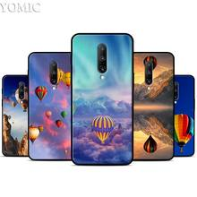 air balloon Sunset sky Silicone Case for Oneplus 7 7Pro 5T 6 6T Black Soft Case for Oneplus 7 7 Pro TPU Phone Cover