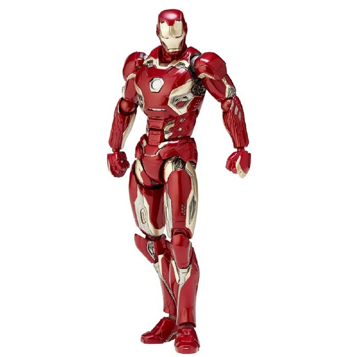 SAINTGI Marvel Avengers Assemble Iron Man Doll Mark 45 Super Heroes 17CM PVC Animated Action Figure Collection Model