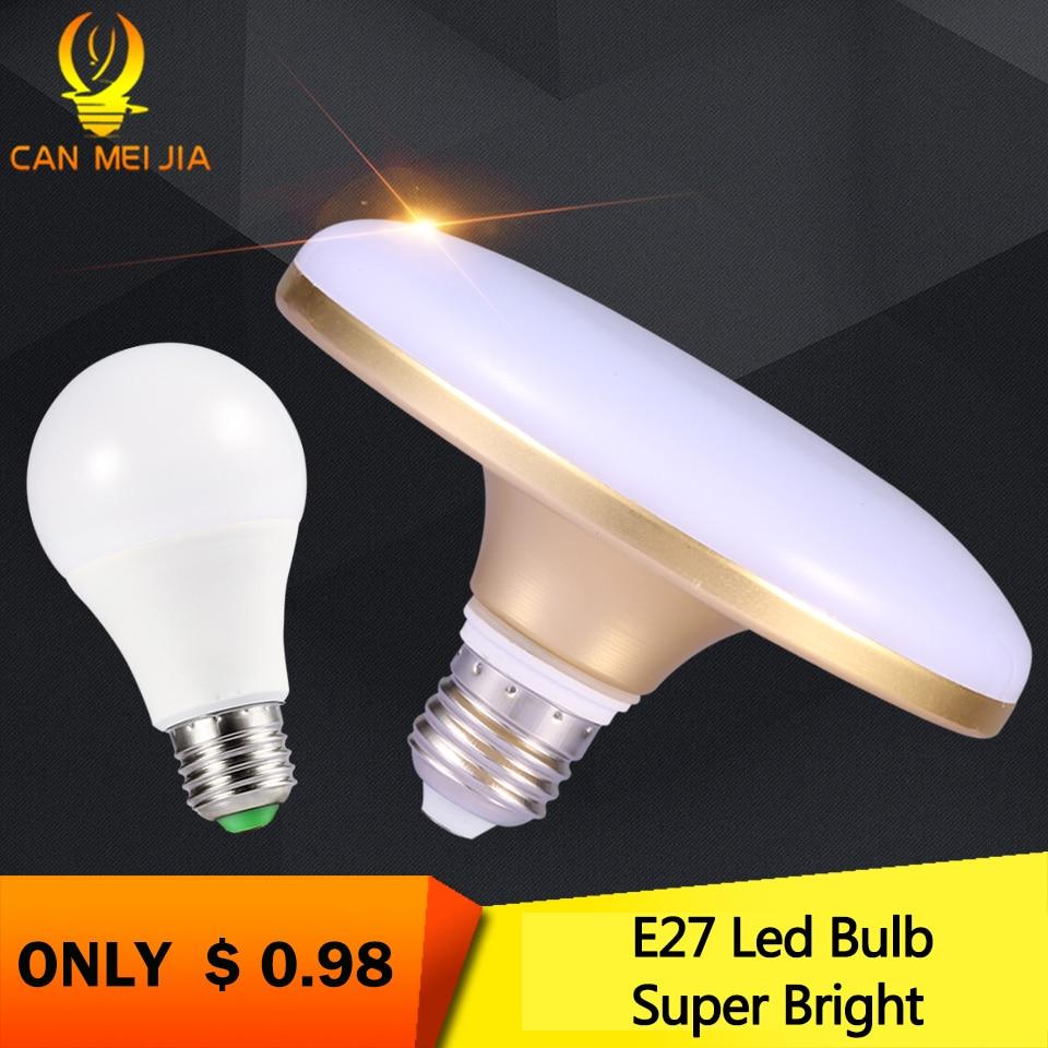 E27 LED Bulb 220V 20W 30W 40W Super Bright Energy Saving UFO Lamp for Home