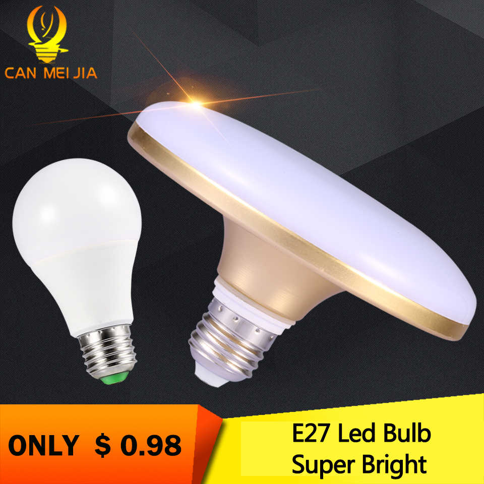 UFO E27 Led Bulb Light Lamp 220V 12W15W 20W 30W 40W 50W 60W Ampoule Bombilla Energy Spotlight Lampada Cold White Home Lighting