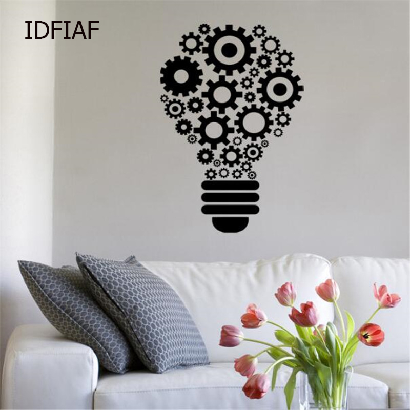 Home & Garden Good Ideas Light Bulb Creative Removable Wall Stickers For Kids Room Wall Decals Living Room Wallpaper Vinyl Art Decor Ta221 Home Decor