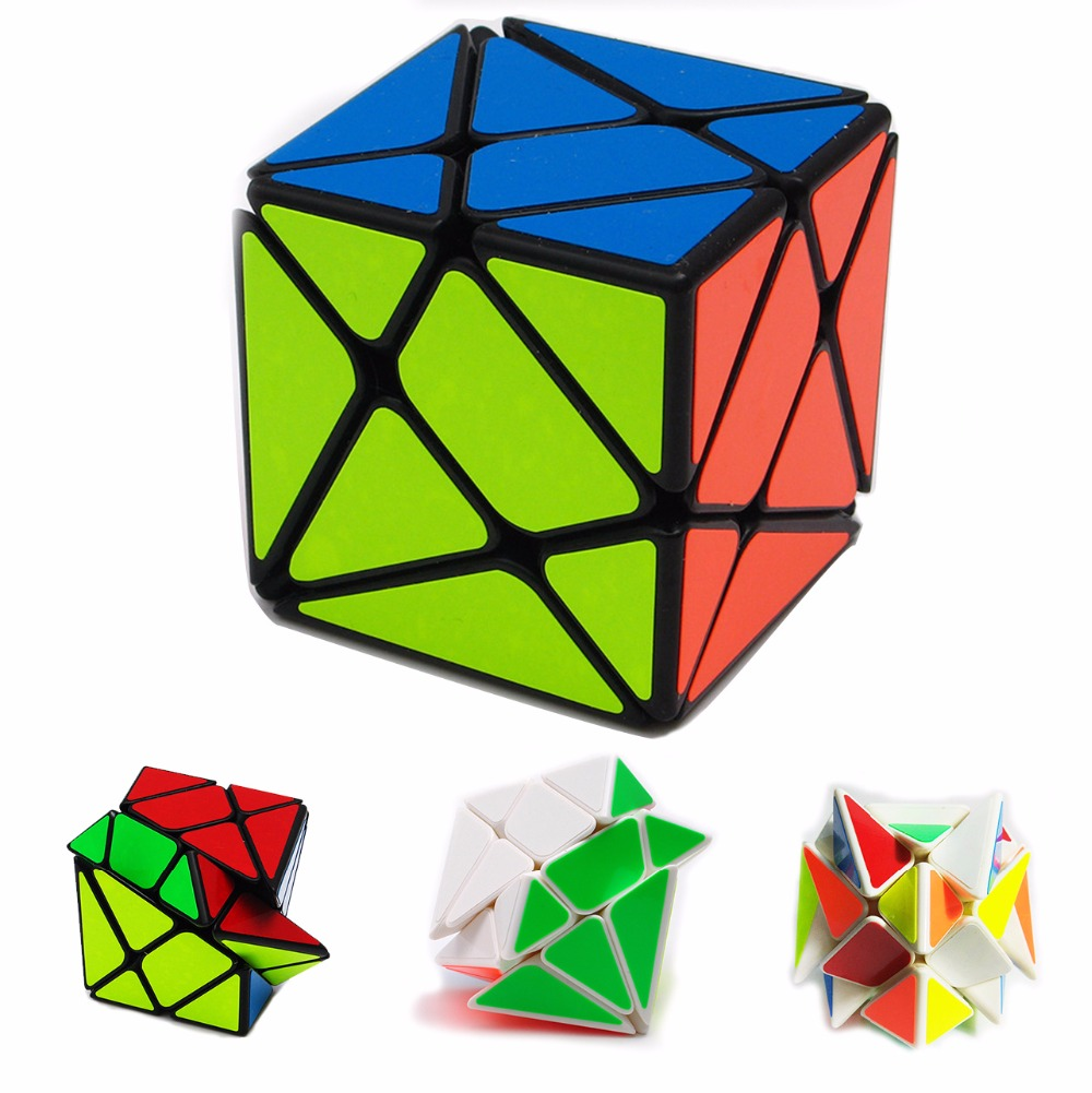 2 Color Skewb Speed Magic Cubes Speed Cube Magic Bricks Block Brain Teaser New Year Gift Toys for Children yj brain teaser 2 x 2 x 2 magic iq cube multicolored