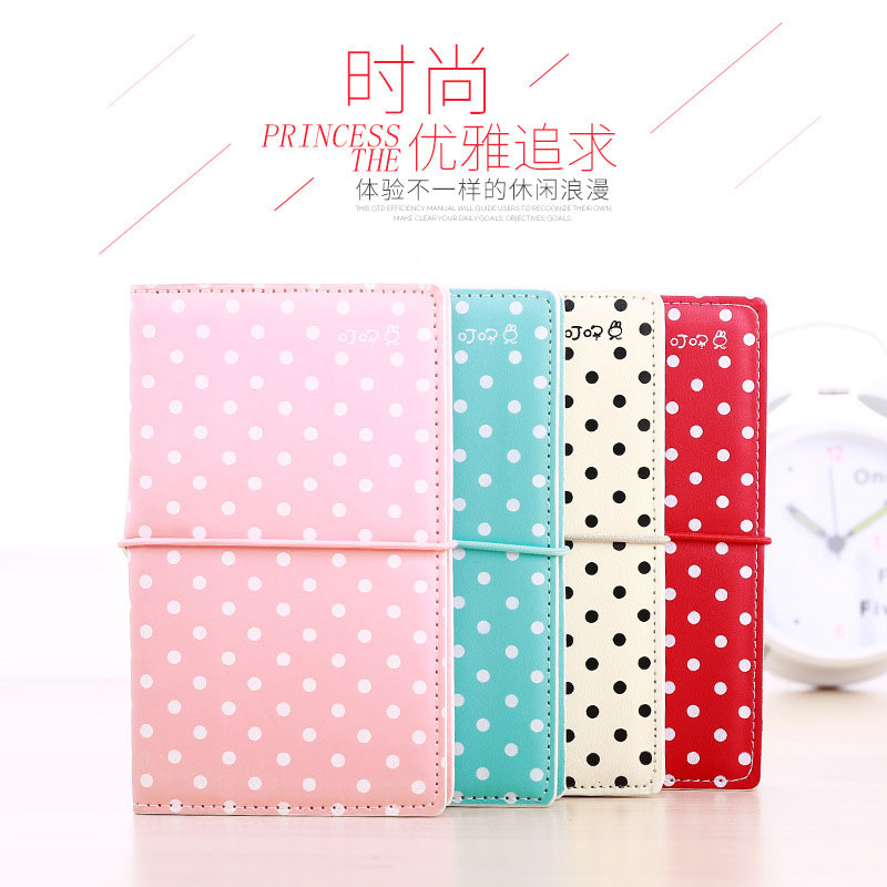 Kawaii Candy Color Fresh Vintage Travel Journal Notebook Retro Diary Planner School Office Supplies Hand Account Cute Stationery 1pc kawaii and cute notebook paper lovely red hat girl agenda week day planner journal record stationery office school supplies