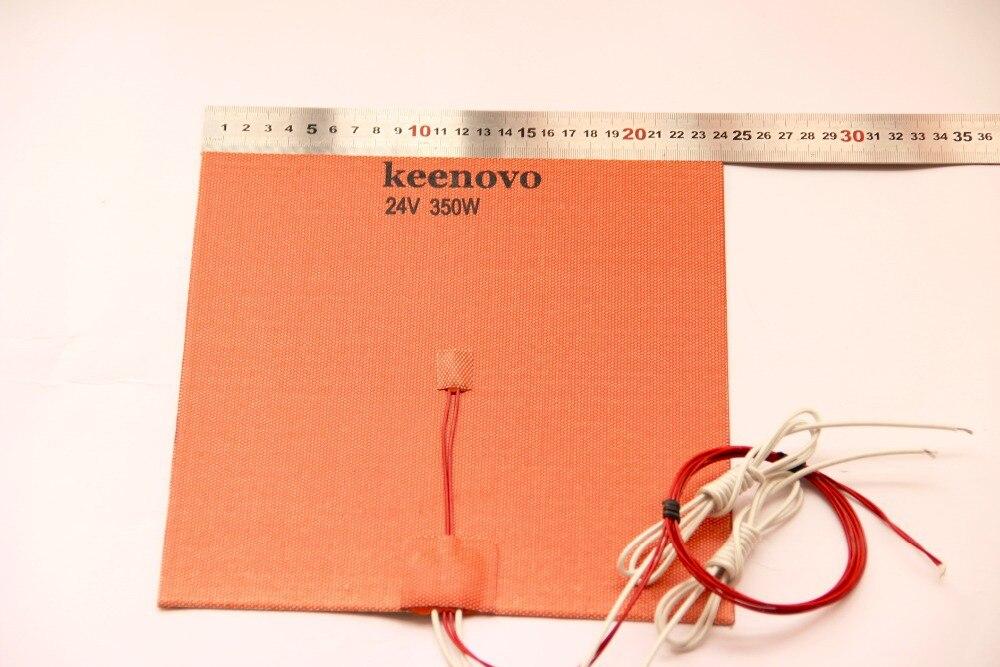 240X240mm, 350W @ 24 V, w/NTC 100 K thermistance, 3 M PSA Keenovo Silicone chauffage imprimante 3D lit chauffant, qualité de première qualité garantie