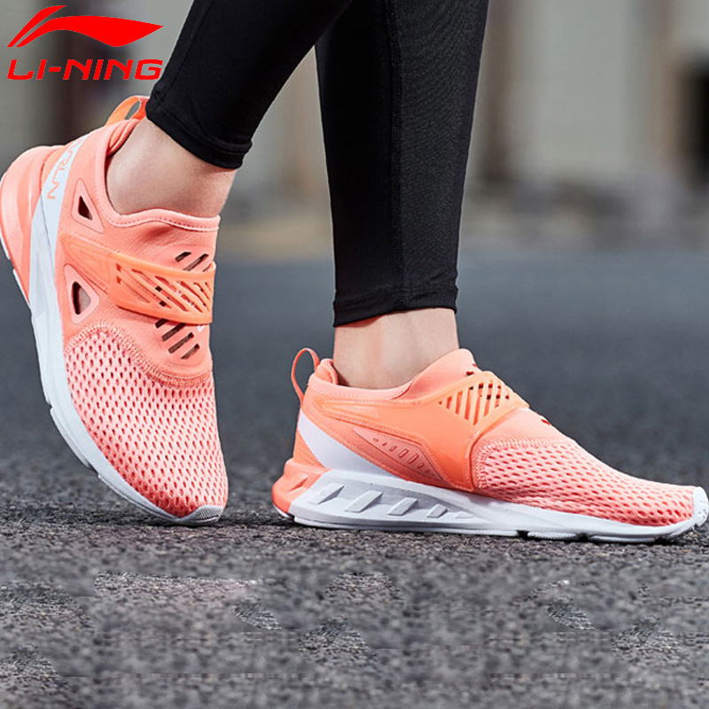 Li Ning Women COLOR ZONE Running Shoes Cushion Breathable Wearable LiNing Sport Shoes Light Weight Sneakers