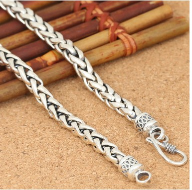 silver necklace men chokers 925 sterling silver best friend