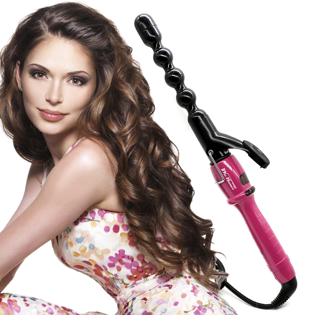 New Design Lcd Digital Bubble Hair Curler Styler Professional Waver Curling Iron Wand In 2