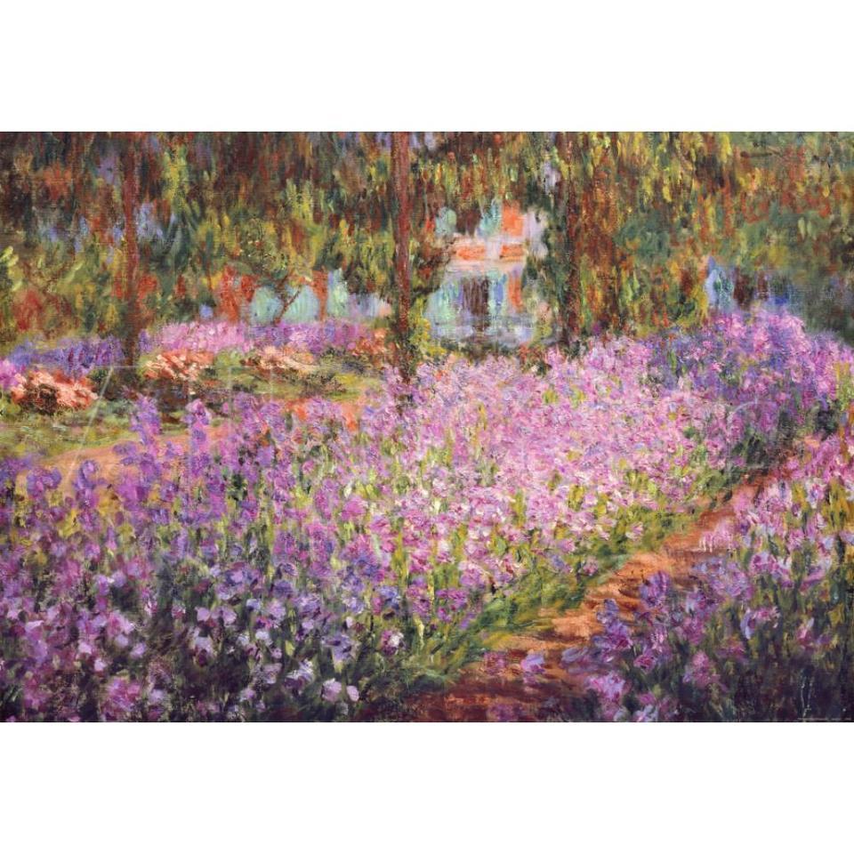 Claude Monet Peintures De Jardin En Fleurs Peinture De Jardin Peinture A L Huile Sur Toile Reproductions Le Jardin De L Artiste De Giverny Peinte A La Main De Bonne Qualite Aliexpress