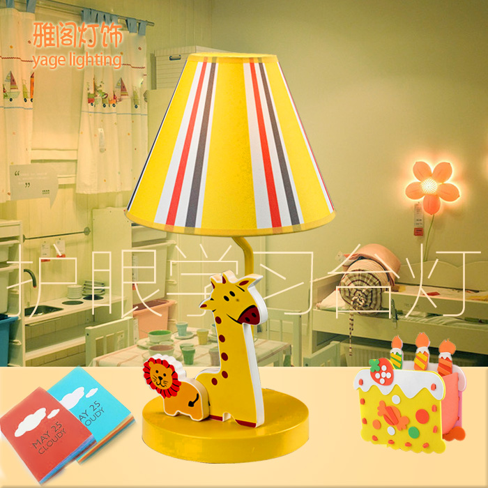 Giraffe children's cartoon table lamps garden lamp bedside bedroom living room garden children cloth lamp desk light ZA8217 rabbit lamp led table light for baby children kids gift animal cartoon decorative lighting bedside desk bedroom living room