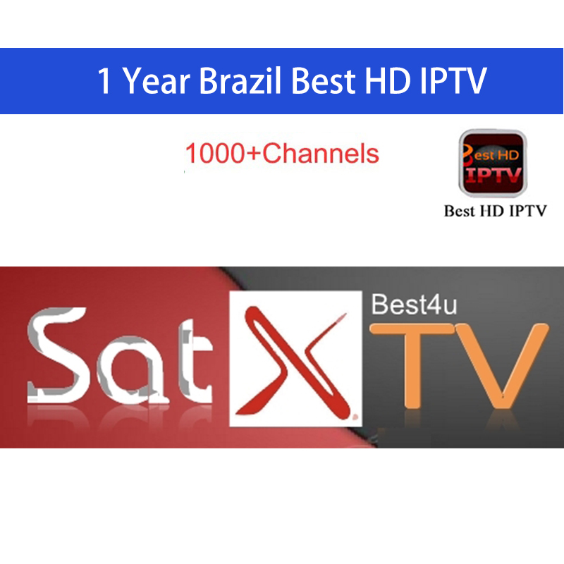 Brazil IPTV 120+ Channels 1 year Brasil iptv for Android tv box stable Brasil canais IPTV 860 + 1 ano Brasil para Android TV box movie iptv