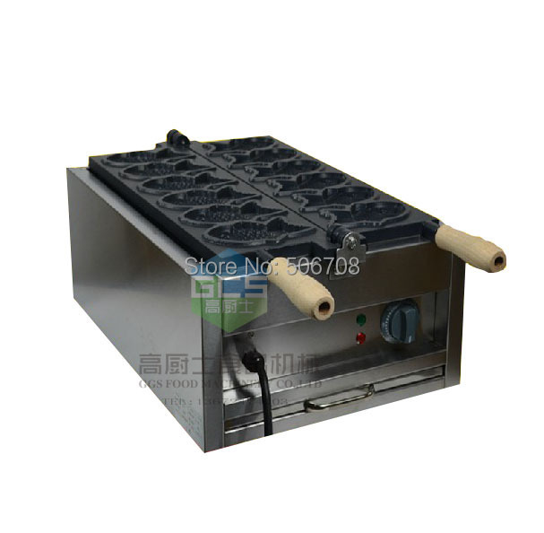 free shipping Electric 110v 220v Fish Waffle Maker Taiyaki machine 6 pcs a plate from 1 12mm molds floating fish feed pellet extruder meal making machine free sea shipping 110v 220v