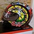 Mulushun rosto cheio capacete da motocicleta capacetes de moto equitação cavaleiro locomotiva de ABS Modelo de baralho mix cores do tamanho M L XL XX