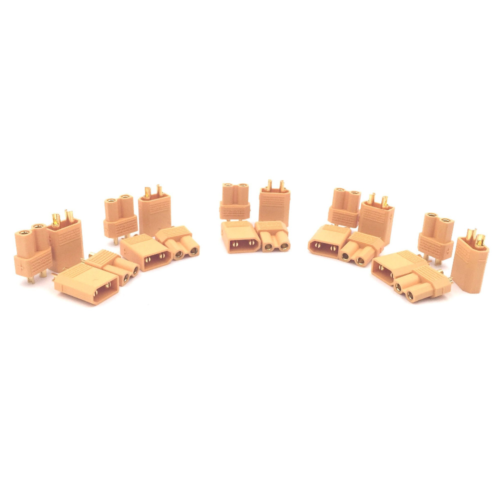 XT30 2mm Golden Connector Plug Set for font b RC b font Mini Quadcopter Multicopter Airplane