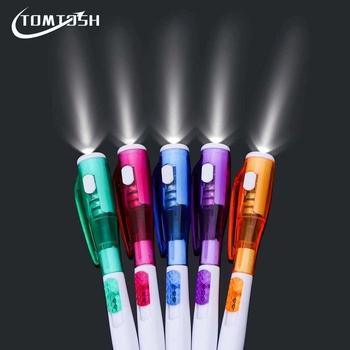 TOMTOSH 1 sztuk śliczne kreatywne artykuły papiernicze nowa latarka led wielofunkcyjne pióro punktowe tanie i dobre opinie CN (pochodzenie) SKU LP044 Długopis Z tworzywa sztucznego 0 5mm Biuro i szkoła pen