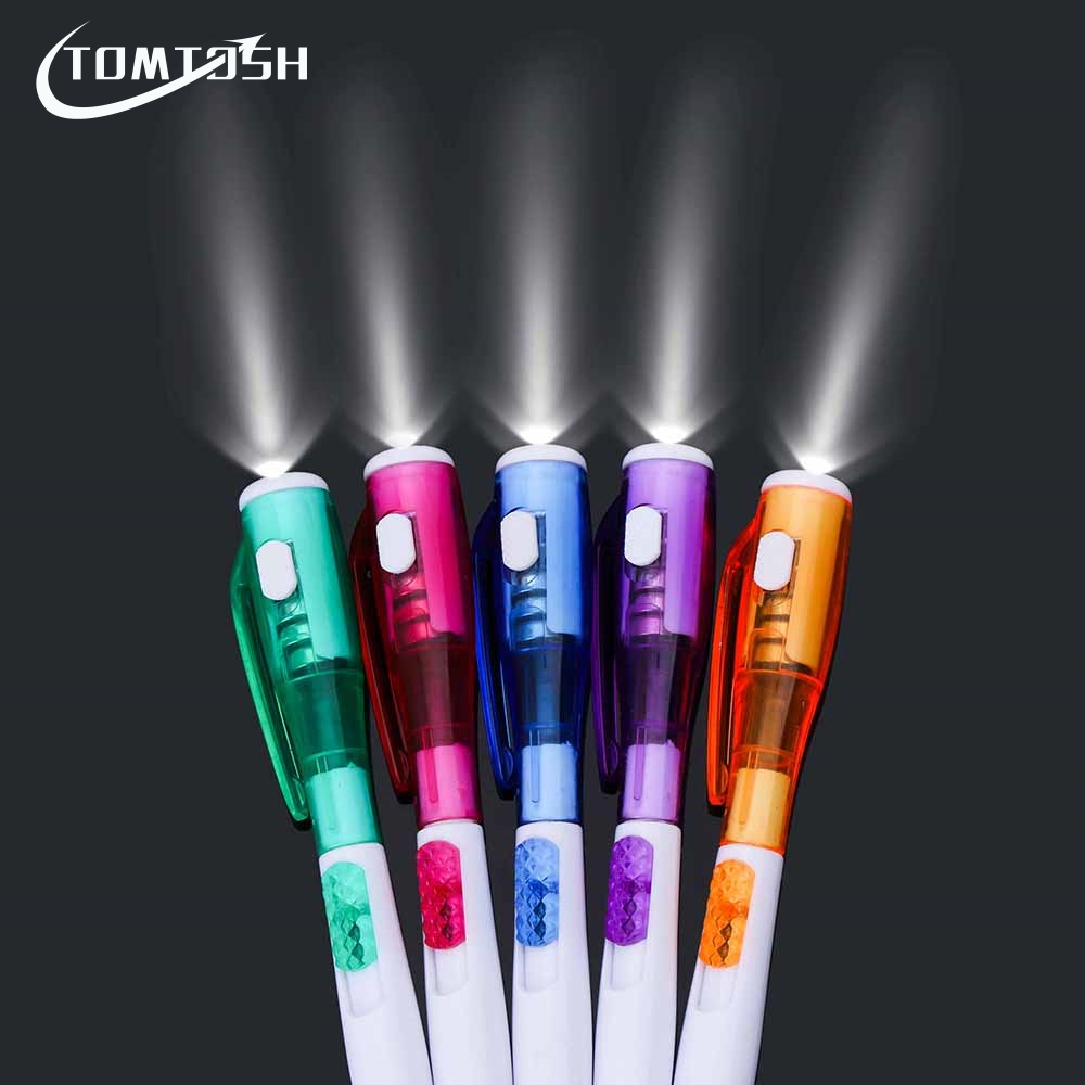 TOMTOSH/1Pieces/Cute creative stationery new led flashlight multi - purpose ball - point pen tomtosh 1pieces cute creative stationery new led flashlight multi purpose ball point pen