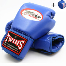 Twins Boxing  Men Women Adult Kids 10OZ 12OZ 14OZ MMA Gloves PU Leather Karate Mauy Kick + Bandage F