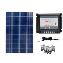 Kit Solar Panel  18v 100w Solar Charge Controller 12v/24v 30A Solar Battery Charger RV Off Grid Phone Caravanas Y Autocaravanas 500w off grid system complete kit 5 100w poly pv solar panel with 45a controller for 12v battery