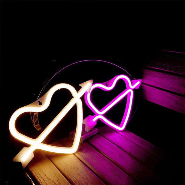 Neon Alphabet Heart Lamp & And Love  LED Night Light 2